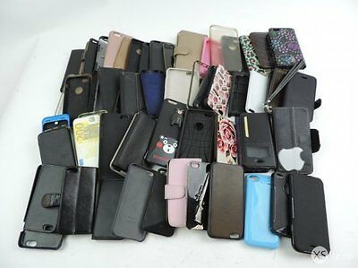 Job Lot x 250 Mixed Assorted Used Mobile Phone Tablet Cases Apple Samsung