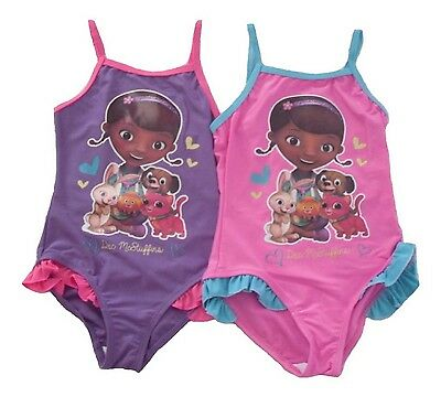 Girls Swimming costume Swimsuit Disney Doc Mcstuffins 2-6 Years