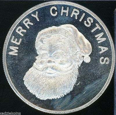 Merry Christmas & Happy New Year .999 Silver Art Medal Round - 1 oz - SH251
