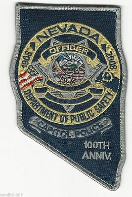 Capitl Police State Nevada Highway Patrol 100th Anniv patch State NV