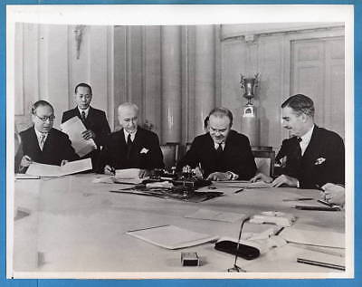 1943 Moscow Conference Molotov Fu Ping-Sheung Cordell Hull Anthony Eden Photo