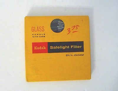 Vintage KODAK SAFELIGHT FILTER 5.5inch Diameter WITH BOX Wratten Series 10