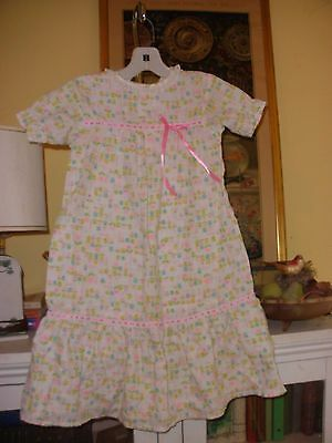 Vintage Nursery Rhyme Plisse Floral Night Gown 3T