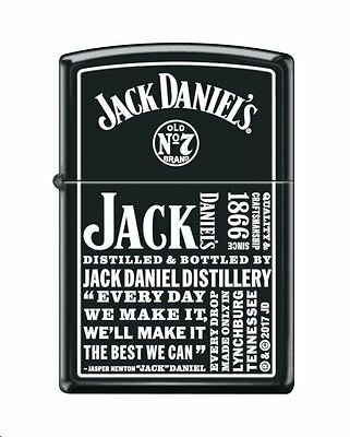 Zippo 4419, Jack Daniels Tennessee Whiskey Old No. 7, Black Matte Finish Lighter