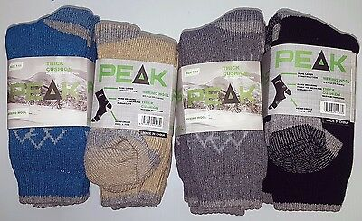 6 Pairs Ladies Sz 7-11 Mixed Merino Wool Thermal Cushion Foot Work Socks