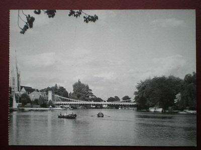 Postcard Rp Buckinghamshire Marlow Bridge - Great View Towards The Bridge Size 6