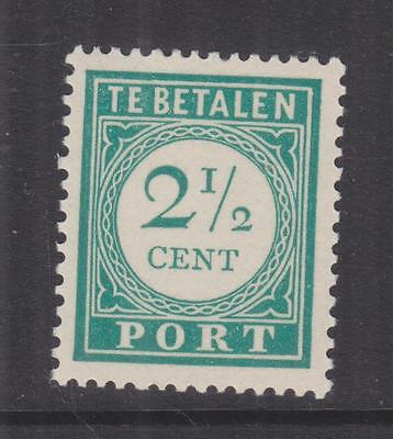 CURACAO, Postage Due, 1948 Photogravure, 2 1/2c. Blue Green, mnh.
