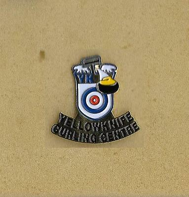 Yellowknife Curling Centre Northwest Territories Canada Official Pin Old