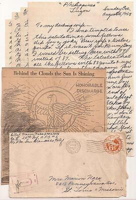 WWII Frontline Letter, 6th Infantry Division. Luzon 1945. Philippines Liberation