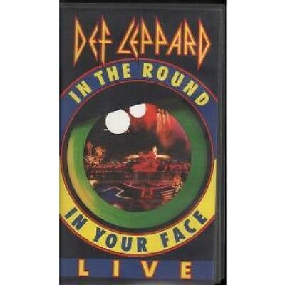 DEF LEPPARD In The Round In Your Face VIDEO UK C Five 1989 14 Track Live Video