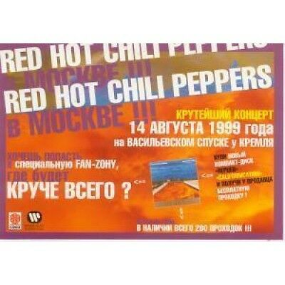 RED HOT CHILI PEPPERS Live In Moscow 14/8/99 POSTER Russian Promo Colour