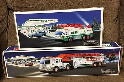 1996 Hess Emergency Truck Sirens Horn 2000 Hess Fire Truck Previously Displayed