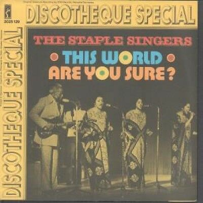 """STAPLE SINGERS This World 7"""" VINYL German Stax 1972 B/W Discotheque Special"""