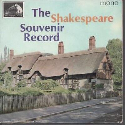 """SHAKESPEARE SOUVENIR RECORD Famous Speeches And Scenes From The Plays 7"""" VINYL"""
