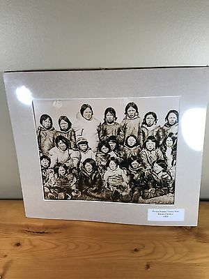 Limited Production Print Glass Teaching Slides Indian Life 1830's #29 Eskimo
