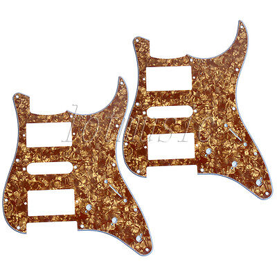2 Pcs Cinnamon Pearl Guitar Pickguard Scratch Plate for Fender Strat HSH Parts