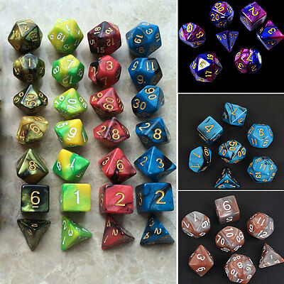 7pcs/Set Multi-sided TRPG Games D&D D4-D20 Dices New Cool Skills Fashion New Hot