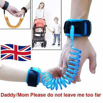 Baby Kids Anti Lost Safety Wrist Link Harness Strap Rope Leash Walking Hand Belt
