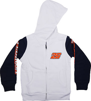 VR46 Daniel Pedrosa 26 MotoGP Junior Fleece Hoody - White