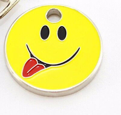 12 -  £1 SHOPPING TROLLEY COIN TOKENS,Emoji smile tongue,GYM LOCKERS,SWIMMING,