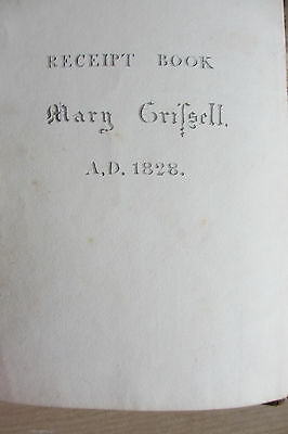 Manuscript Recipe Book of Mary Crissell, 1828, cookery/medical, leather-bound