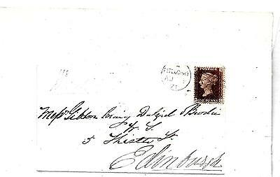 G.B. QV 1d RED COVER 2 x BACKSTAMPED