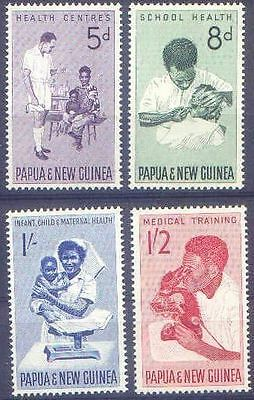 Papua New Guinea 1964 HEALTH SERVICES (4) Unhinged Mint SG57-60