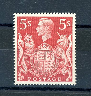 Great Britain 1939/48   5s  Red    unmounted MINT   (Jy299)
