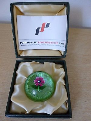 Perthshire Miniature Flower Paperweight -  Limited Edition - Boxed - Stunning!