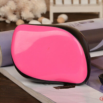 TRIXES Compact Hot Pink Detangling Hairbrush