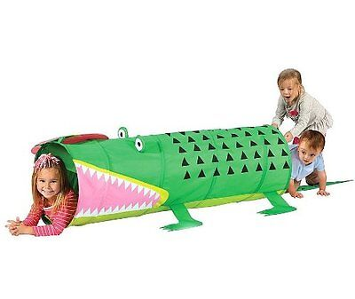 Alligator Play Tunnel with Carrying Case - Indoor/Outdoor Pop Up Tunnel