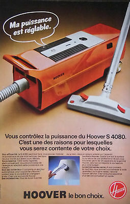 Publicité De Presse 1977 - Aspirateur Hoover S 4080 - Advertising