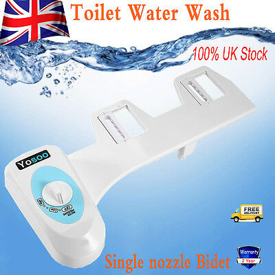 Cold Water Wash Non-Electric Mechanical Bidet Toilet Seat Attachment Bath Home L