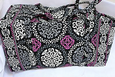 Vera Bradley Large Duffel Travel Bag In Canterberry Magenta