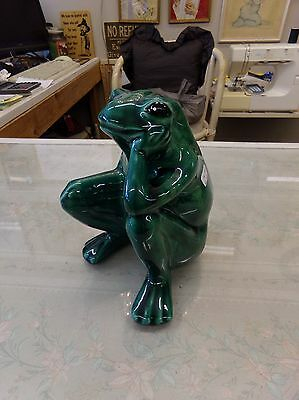 "7"" tall The Thinker Frog is a Lawn / Garden Ornament in Forest Green"