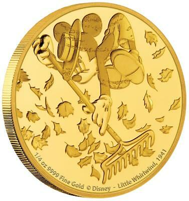 Niue 25 Dollar 2017 Little Whirlwind Mickey through the Ages (7.) 1/4 Oz Gold PP