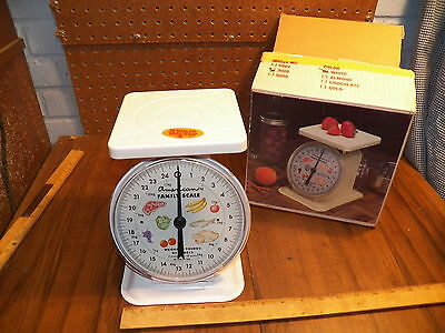 Vintage AMERICAN FAMILY 25 LB Kitchen / Canning Scale w Original Box