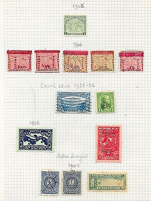 Panama stamps 1906 Collection of 13 CLASSIC stamps HIGH VALUE!
