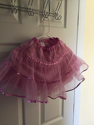 Hanna Andersson Girl's Pink Purple Tiered TUTU Skirt size 100