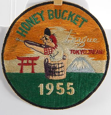Honey Bucket League Tokyo Japan 1955 Unusual Embroidered Shooting Patch