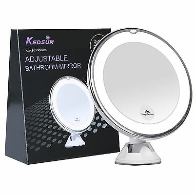 "KEDSUM 6.8"" 10x Magnifying LED Lighted Makeup MirrorBathroom Vanity Mirror"