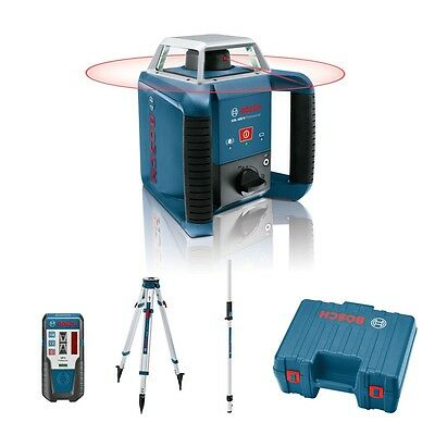 Bosch Grl400H Self Levelling Rotating Laser Level Kit C/w Receiver & Staff
