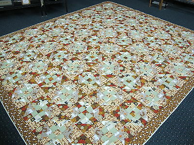 Authentic Amish Handmade Qn/King Quilt 102 x118,Signed/Dated, Millersburg, Ohio