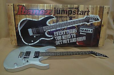 IBANEZ Jumpstart IJRG220Z ELECTRIC GUITAR KIT with  AMP TUNER Strat TYPE SILVER