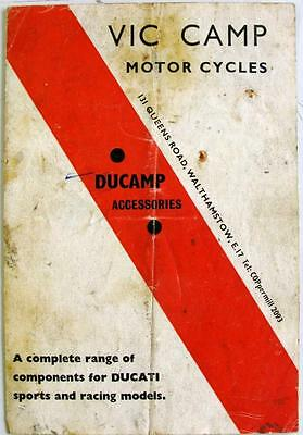 DUCAMP Accessories DUCATI Sports & Racing Original Motorcycle Handbook 1960s