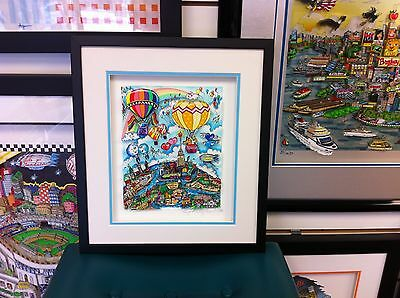 "Charles Fazzino 3D Art "" Rainbows & Balloons of Many Colors "" Signed & Numbered"