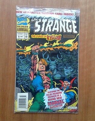Doctor Strange Annual #3 Marvel Comics 1993 Curse Of Kyllian, Sealed With T/card