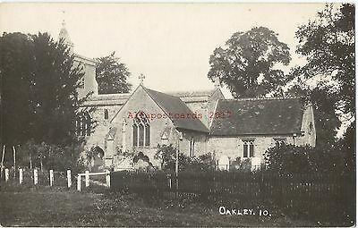 Oakley Church near Bedford Real Photo Vintage Postcard 27.6