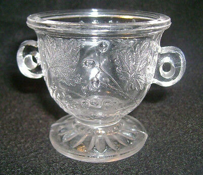 Wee Branches child sugar bowl without lid crystal pressed glass