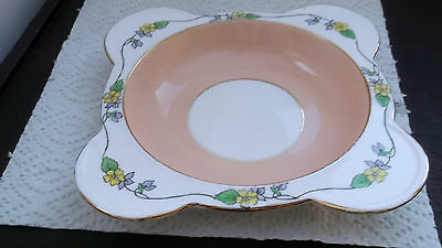1928 -41 Williamsons Heathcote China Shaped Dessert Bowl In The  Dell Pattern